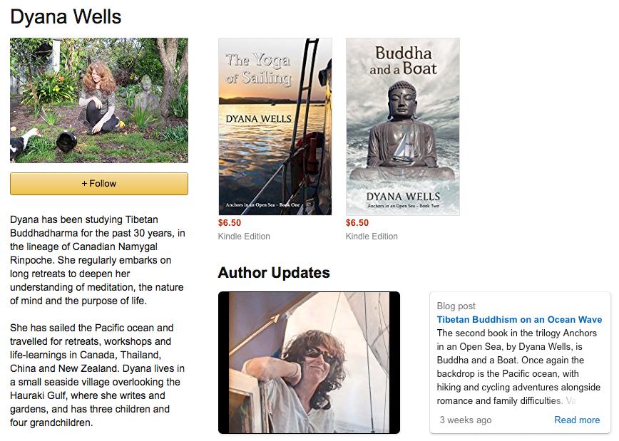 Dyana Wells author page on Amazon
