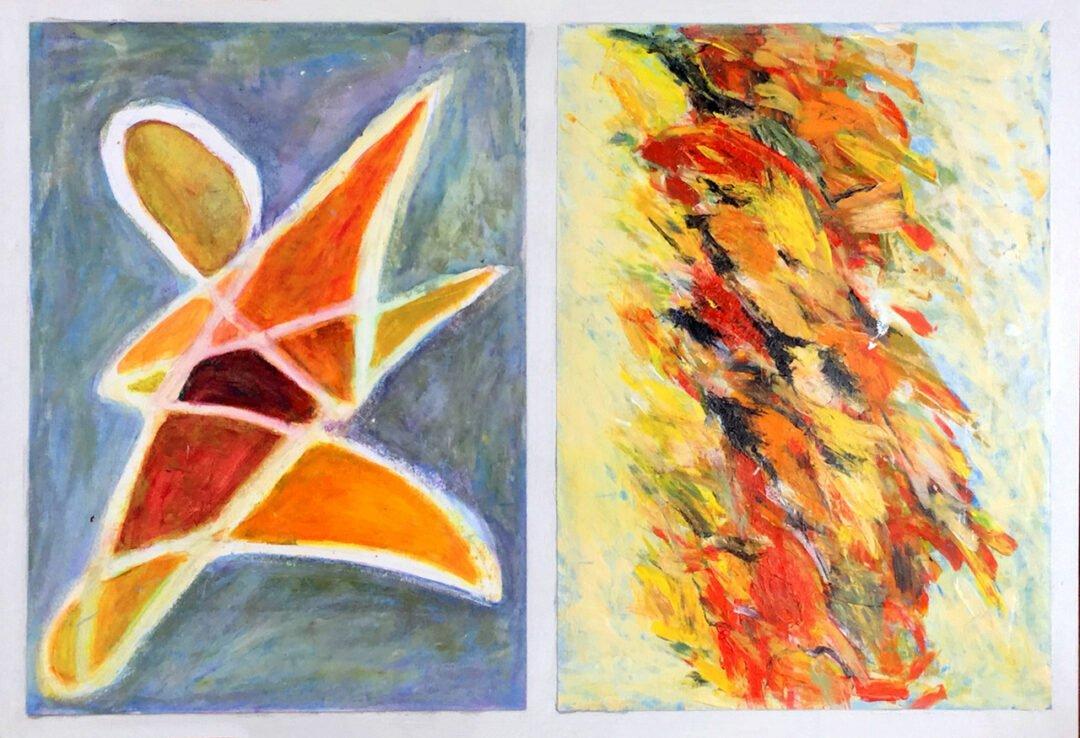 Acrylics & Oil Pastels 2020